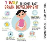 7 way to boost baby brain... | Shutterstock .eps vector #1035594406