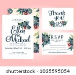 wedding vector watercolor... | Shutterstock .eps vector #1035595054