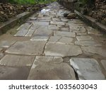 ruins of ancient greek and... | Shutterstock . vector #1035603043