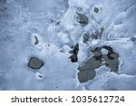 close up on lake bank rocks... | Shutterstock . vector #1035612724