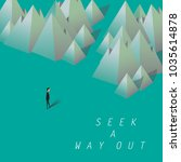 seek a way out. businessman... | Shutterstock .eps vector #1035614878