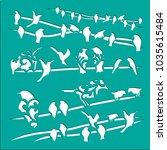 birds stencils art   Shutterstock .eps vector #1035615484