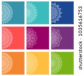set of greeting card templates... | Shutterstock .eps vector #1035616753