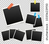 set of template photo frames... | Shutterstock .eps vector #1035623950