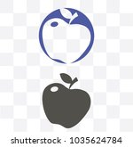 apple icon in trendy flat style ...