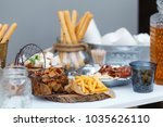 salty and cheese bar of several ... | Shutterstock . vector #1035626110