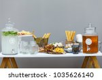 salty and cheese bar of several ... | Shutterstock . vector #1035626140
