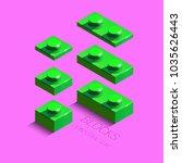 3d green constructor from lego...   Shutterstock .eps vector #1035626443