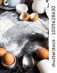preparation baking kitchen...   Shutterstock . vector #1035628630