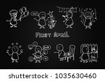 april fools day funny doodle...   Shutterstock .eps vector #1035630460