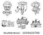 carnival circus badge. banner...   Shutterstock .eps vector #1035633700