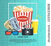 cinema concept poster template... | Shutterstock .eps vector #1035633808