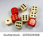 lots of different dice for... | Shutterstock . vector #1035634468