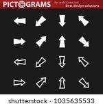 arrows vector white icons for... | Shutterstock .eps vector #1035635533