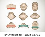 vintage label style with nine...   Shutterstock .eps vector #103563719