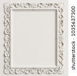 classic mirror frame on the... | Shutterstock . vector #1035637300