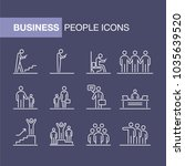 business people icons set... | Shutterstock .eps vector #1035639520