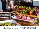 mediterranean diet foods such... | Shutterstock . vector #1035639778