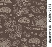 seamless pattern with yerba... | Shutterstock .eps vector #1035641398