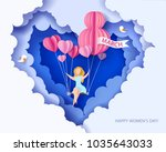 card for 8 march womens day.... | Shutterstock .eps vector #1035643033