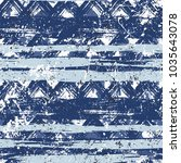 grunge chevron vector pattern... | Shutterstock .eps vector #1035643078