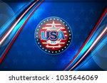 flag of usa background for... | Shutterstock .eps vector #1035646069