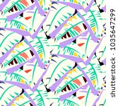 bold abstract jungle print with ... | Shutterstock .eps vector #1035647299
