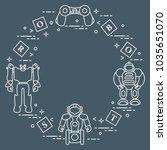 toys for children  robots ... | Shutterstock .eps vector #1035651070