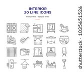 interior design line icons | Shutterstock .eps vector #1035651526
