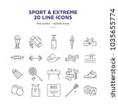 sport   extreme line icons | Shutterstock .eps vector #1035655774