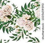 flowers. vector rose flower... | Shutterstock .eps vector #1035659593