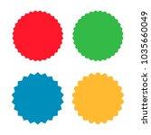 set of sunburst badges  labels  ... | Shutterstock .eps vector #1035660049