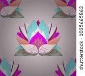 elegant seamless pattern with... | Shutterstock .eps vector #1035665863