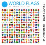 all world flags set   new... | Shutterstock .eps vector #1035666463