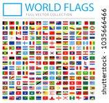 all world flags set   new... | Shutterstock .eps vector #1035666466