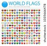 all world flags set   new... | Shutterstock .eps vector #1035666478