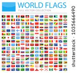 all world flags set   new... | Shutterstock .eps vector #1035666490
