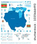 suriname infographic map and... | Shutterstock .eps vector #1035666493