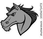 mustang head illustration   a...   Shutterstock .eps vector #1035671473
