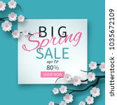 spring sale floral banner with... | Shutterstock .eps vector #1035672109