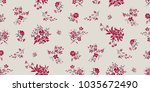 seamless floral pattern in... | Shutterstock .eps vector #1035672490