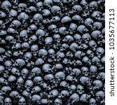 Gothic Skulls Background   3d...