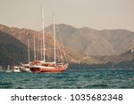 amazing view of gorgeous boats... | Shutterstock . vector #1035682348