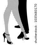 legs of woman and man dancing... | Shutterstock .eps vector #1035683170