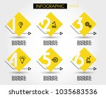 six infographic square numbers   Shutterstock .eps vector #1035683536