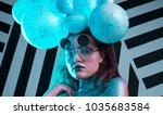 young attractive girl in art... | Shutterstock . vector #1035683584