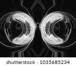 monochrome retro technology... | Shutterstock . vector #1035685234