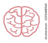 human brain icon image | Shutterstock .eps vector #1035688960