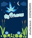 my princess text above swamp...   Shutterstock .eps vector #1035690490
