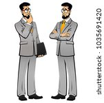 the man in the business suit... | Shutterstock .eps vector #1035691420